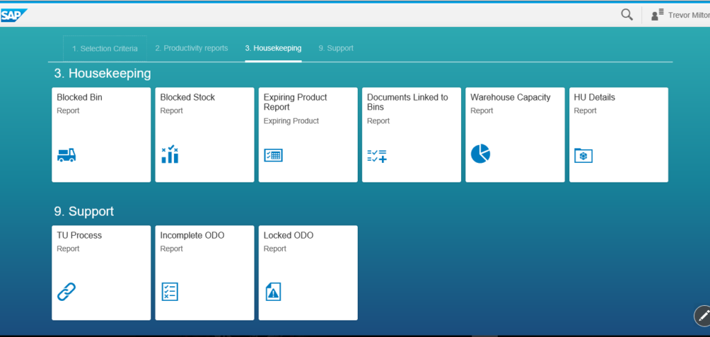 Screenshot of a dashboard